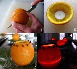 1 Homade orange candles
