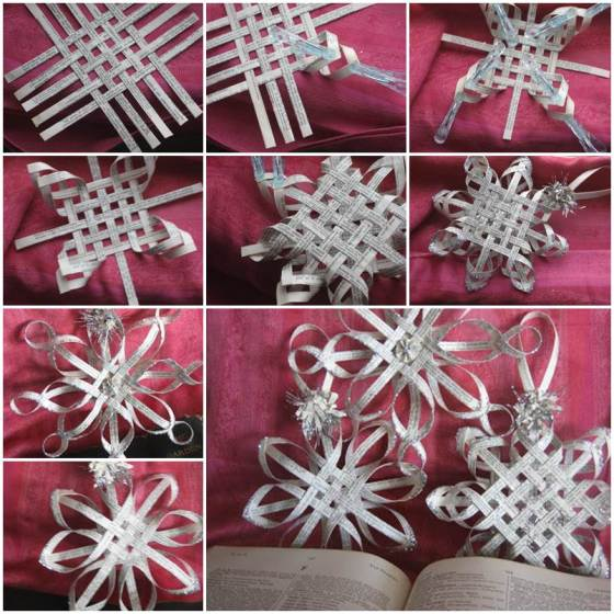 Snow Flake -DIY-Woven-Paper-Snowflakes
